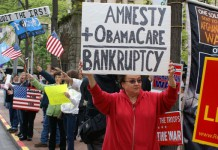 Seattle Tea Party Patriots Protesting Immigration Reform and the IRS (IREHR)