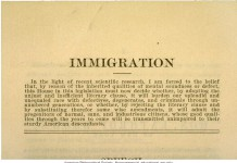 Eugenicist speech to House of Representatives on Immigration.